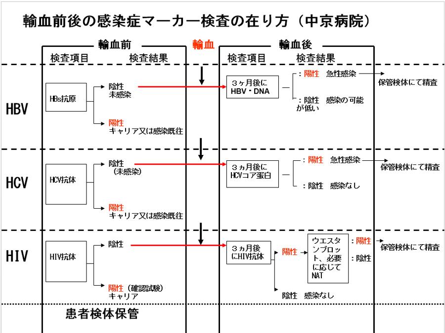 輸血前後感染症検査   中京病院 ...